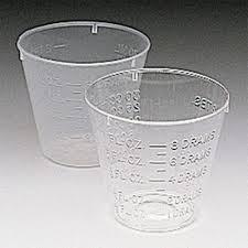 Plastic 1oz Medicine Cup, CASE OF 5000