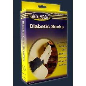 Chattanooga DJO Global Diabetic Socks, White Cotton, Large