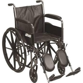 16″  Silver Sport 2 Wheelchair, 250 Lbs Weight Capacity, EACH