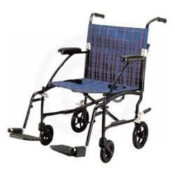 Fly-Lite Transport Chair Wheelchair, 19″ Elevating Legrests