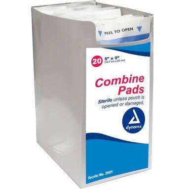 5″x9″ Combine Sterile Abdominal Pad, CASE OF 400