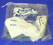 Medi-Pak Patient Belongings Drawstring Bag, CASE OF 250
