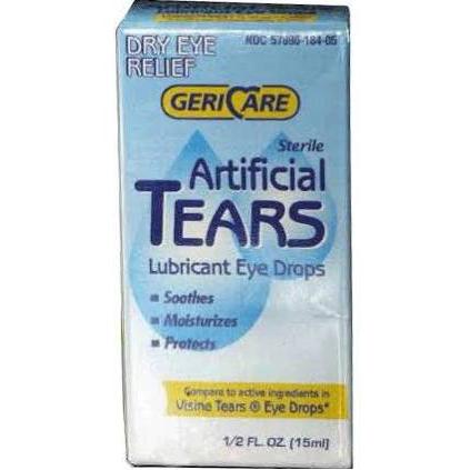 Teargen Artificial Tear Solution Lubricant Eye Drops, 0.5 Oz, CASE OF 48