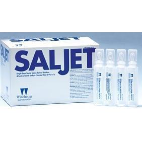 Saljet Sterile Saline, Sodium Chloride Unit Dose, BOX OF 12